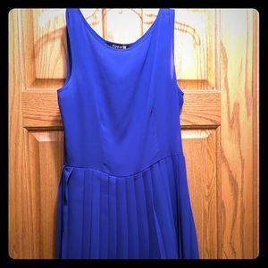 Forever 21 Blue Pleated Dress